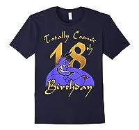 Disney Aladdin Genie Totally Cosmic 18th Birthday T-shirt Navy