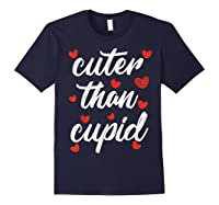 Cuter Than Cupid Girls Vday Cute Valentines Day Shirts Navy