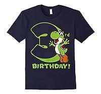 Super Mario Yoshi 3rd Birthday Action Portrait T-shirt Navy