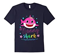 Nanny Shark Doo Doo Doo Shirt Matching Family Shark T-shirt Navy