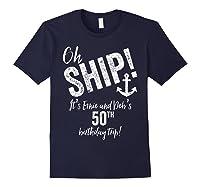 Ernie And Debs Birthday Cruise Shirts Navy