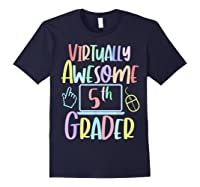 Virtually Awesome Fifth Grader E Learning Back To School Shirts Navy