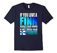Funny Finnish Finn Pride Finland Flag Love A Finn Shirts Navy