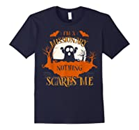 Missionary Nothing Scares Me Funny Halloween T-shirt Navy