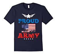 Proud Army American Soldier Air Flag Honor Gift T-shirt Navy