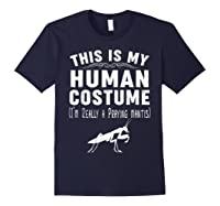 This Is My Halloween Costume I'm Realy Praying Mantis Shirts Navy