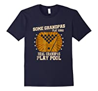 Billiards Grandpa Real Grandpas Play Pool Shirts Navy