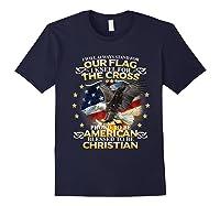 Christian Patriotic American Flag Shirts Navy