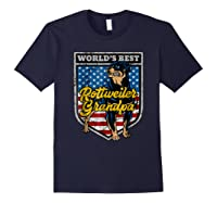 Worlds Best Rottweiler Grandpa Shirts Navy