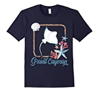 Grand Cayman Islands Turtle Tuna Stingray Blue Souvenir Gift T-shirt Navy