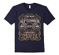 September 1994 Man Myth Legend 26th Birthday 26 Years Old Shirts Navy
