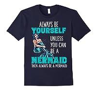 Cute Mermaid Gifts N Girls Mermaids Lover Gift Daughter Shirts Navy