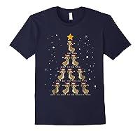 Dabbing Kangaroo Christmas Dab Christmas Tree Shirts Navy