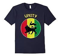Rasta Live Up Unity Design Shirts Navy