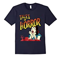 Vintage Horror Movie Poster Funny Halloween Shirts Navy