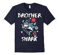 Brother Shark Doo Doo Bro Fun Uncle Birthday Gift Idea Shirts Navy