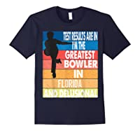 The Greatest Bowler In Florida Bowling Shirts Navy