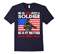 My Brother Is A Soldier Proud Army Family Military Sibling Shirts Navy