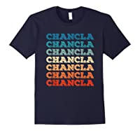 Funny Mexican Mom Gift Chancla T-shirt Navy