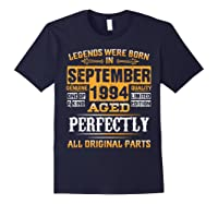 Vintage September 1994 Birthday Gift For 25 Yrs Old D1 Shirts Navy