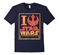 S Rebel Alliance Love Shirts Navy