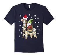 Santa Hat Christmas - Santa Gnome T-shirt Navy