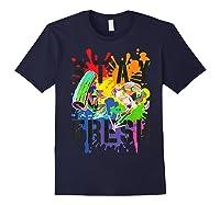 Splatoon Pride Stay Fresh Rainbow Paint Splat Shirts Navy