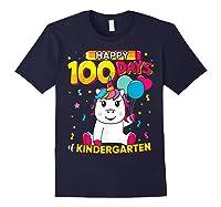 Unicorn Happy 100 Days School Kindergarten Girls Gift Shirts Navy