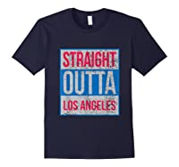 Straight Outta Los Angeles Basketball Shirts Navy