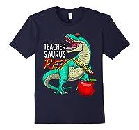 Teasaurus Rex - Funny Dinosaur Tea Appreciation Gift T-shirt Navy