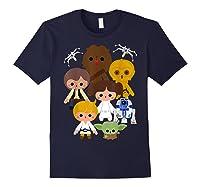 S Cute Kawaii Style Heroes Graphic C1 Shirts Navy