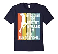 The Greatest Baller In Ohio Basketball Player T-shirt Navy