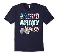 Proud Patriotic Usa Army Nephew Usa Flag Military Shirts Navy