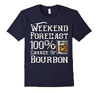 Weekend Forecast 100 Percent Of Bourbon Whiskey Shirts Navy