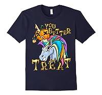 Unicorn Pumpkin Shirts Navy