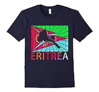 Eritrea Map Eritrean Shirts Navy