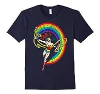 Wonder Woman Rainbow Love Shirts Navy