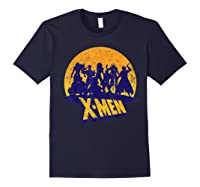 Marvel X- Logo And Mutants Classic T-shirt Navy
