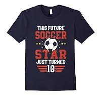 10th Birthday Soccer Birthday Boy Shirts Navy