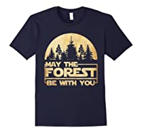 May The Forest Be With You T-shirt Navy