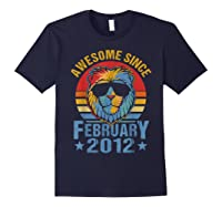 Lion 2012 Awesome February 8th Birthday Gifts King T-shirt Navy