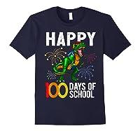 100 Days Of School Dinosaur T Rex Pencil Backpack Gift Shirts Navy