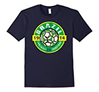 Football Is Everything - Brazil Vintage T-shirt Navy