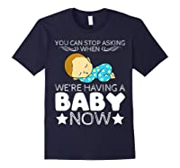 Baby Family Pregnant Mother Daughter Son Design Having Baby Shirts Navy