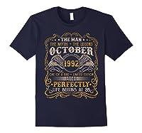 October 1992 Man Myth Legend 28th Birthday 28 Years Old Shirts Navy