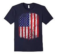 Distressed American Flag, Patriotic Shirts Navy