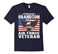 Proud Grandson Of Air Force Veteran Patriotic Military Gifts Shirts Navy