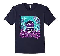 Astronaut Flowers Daisy Bubble Ocean Shirts Navy