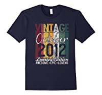 Gift For 8th Birthday October 2012 Vintage Limited Edition Premium T-shirt Navy