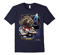 Marvel Avengers Endgame Rocket Logo Graphic T-shirt Navy